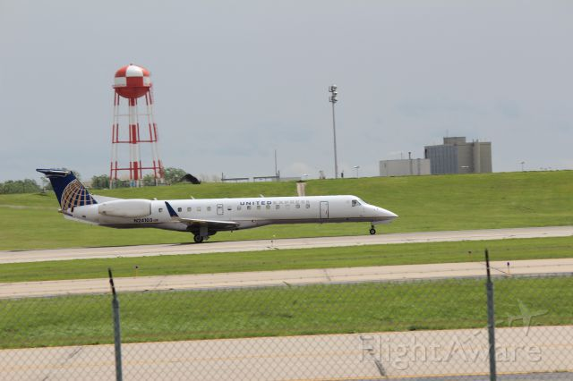 Embraer ERJ-145 (N24103) - ASQ4306 to KCLE rolling on 19L