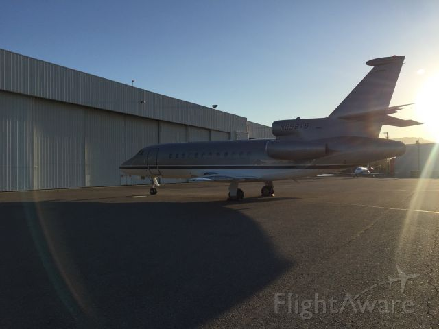 Dassault Falcon 900 (N898TS) - Sun rising on a newly repainted Falcon