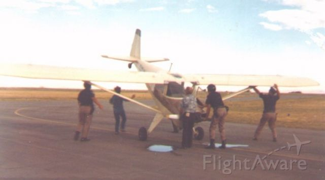 UNKNOWN — - 26-Aug-1972, just prior to the start of the Airshow at Ogden. There was a rope around the ramp to keep the spectators off of the taxiways and runways. This poor guy didn