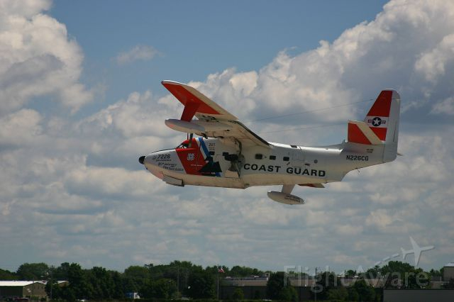 N7029F — - HU-16 retracting the landing gear at the EAA Fly In 7-29-2005