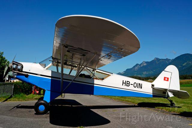 HB-OIN — - Former USAF 44-78923 enjoying the sun at Piper Cub FlyIn 2014