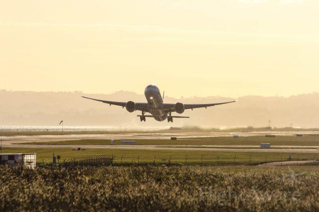 BOEING 777-300 (ZK-OKR) - Next stop SFO !
