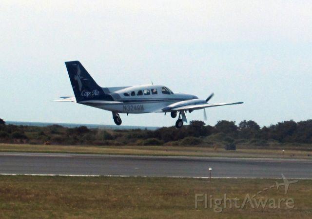 Cessna 402 (N3249M) - Take of runway 24 ay KACK