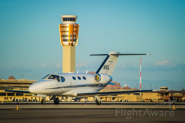 """Cessna Citation Mustang (N1EL) - I am sure that his name is Niel. Why else would he name his plane after himself? Here N1EL is; taxiing into the Swift Aviation ramp at Phoenix Sky Harbor International.<br />Please vote if you like my work!<br />©Bo Ryan Photography 