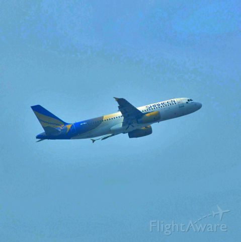 Airbus A320 (AP-BMC) - Take off from mux to khi