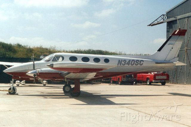 Cessna 340 (N340SC) - Seen here in Aug-01.<br /><br />Registration cancelled 7-Aug-13 as expired.