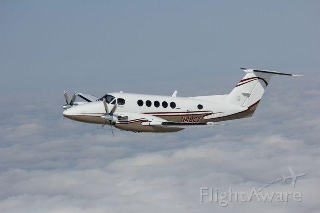 Beechcraft Super King Air 200 (N48CV) - Air to Air photos shot of Executive Air Taxi's King Air 200 Tues. June 26, 2012.
