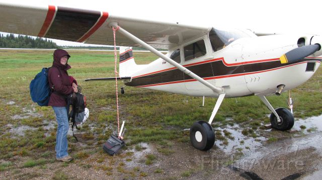 Cessna Skywagon 180 (N4728B) - Typical day in Hay River NWT.  Rampies dig this stuff.