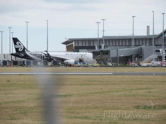 Airbus A320 (ZK-OXF) - At Gates.