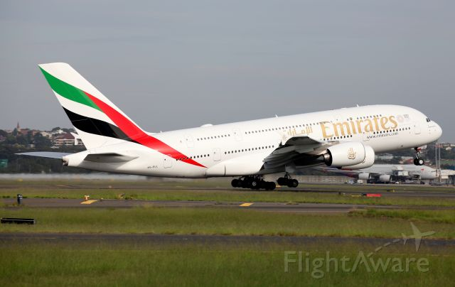 Airbus A380-800 (A6-EUL) - Lifting Off From Rwy 34L