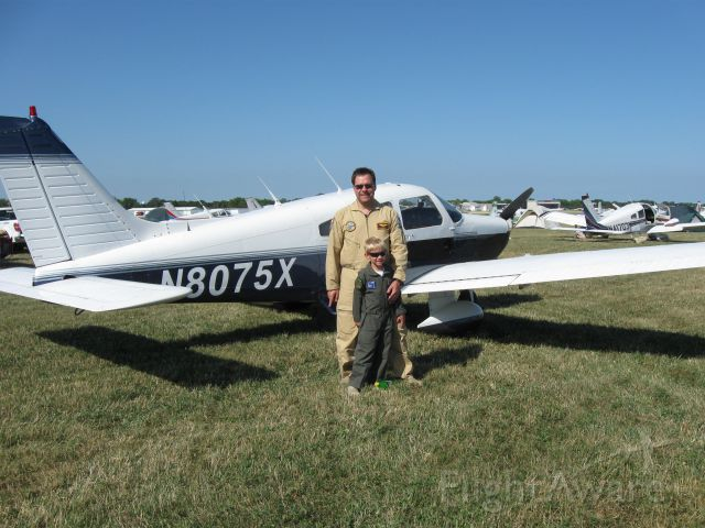 Piper Cherokee (N8075X) - Just arrived at AirVenture 2012