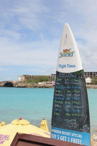 — — - Princess Juliana Airport, Maho Beach St Martin list of arrivals