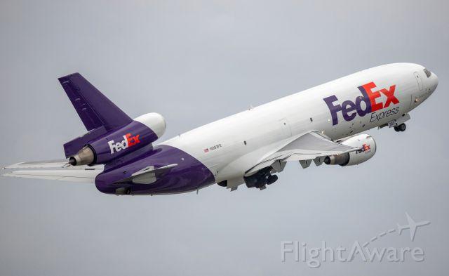 McDonnell Douglas DC-10 (N383FE) - FedEx DC-10 takeoff from RWY 10L