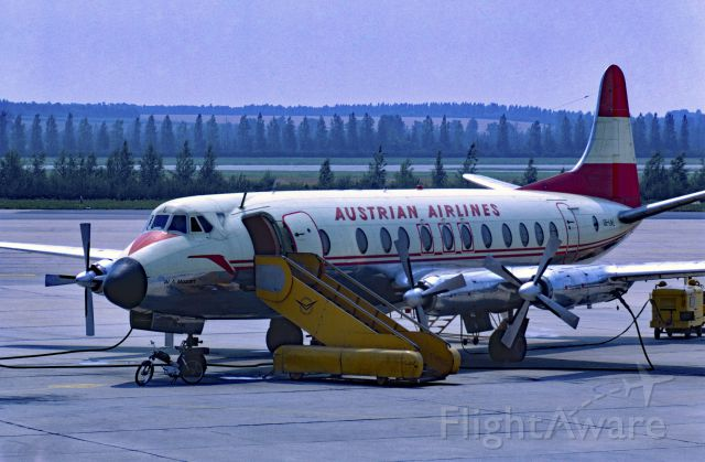VICKERS Viscount (OE-LAL) - August 1969 at Vienna (LOWW)
