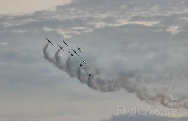 — — - Canada Forces Snowbirds at June 10, 2018 airshow at Niagara Falls, NY