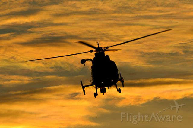 CG6511 — - 4/11/13: U. S. Coast Guard Aerospatiale MH-65C Dolphin #CG-6511 from CG Air Station Miami on short final approach over Miami Lakes at sunset enroute to runway 9-left at Opa-Locka Executive Airport.