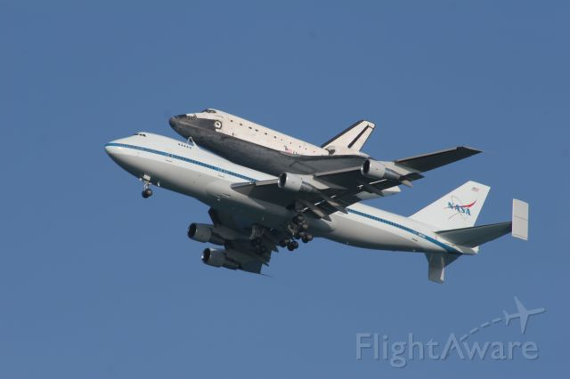 Boeing 747-200 (N911NA) - Shuttle Atlantis coming home aboard NASA 747-200. Taken at Cocoa Beach, FL 6/2/09