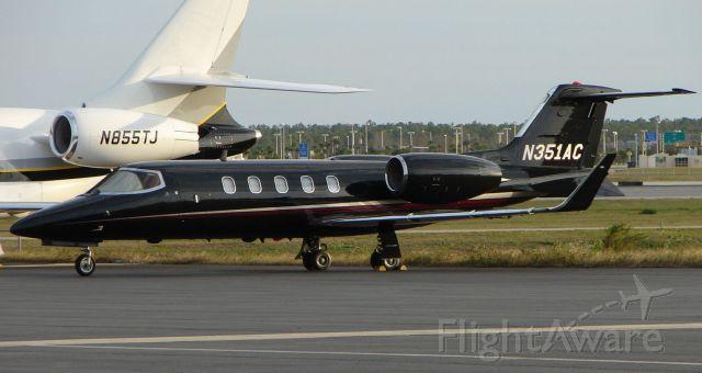 Learjet 31 (N351AC) - Cool looking , all black Learjet 31