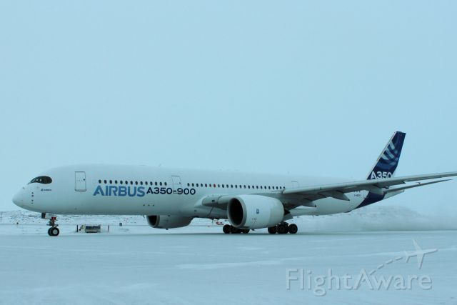 Airbus A350-900 (F-WZGG) - COLD WEATHER TESTING YFB #3 AIRCRAFT