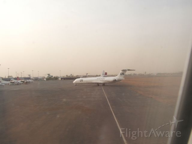 McDonnell Douglas MD-80 (EC-JUG) - United Nations plane at Khartoum, Sudan in 2006