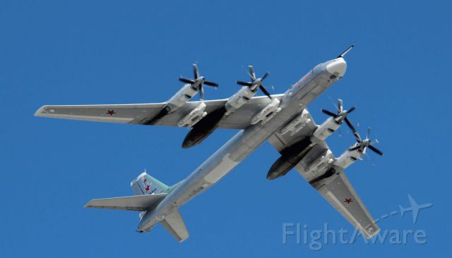 Tupolev Tu-142 (RF-94116) - Flypast by Russian Air Forces on Victory day over Moscow.