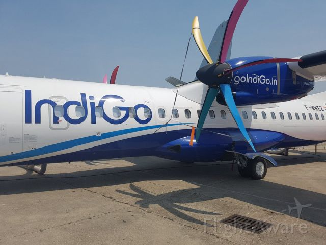 Aerospatiale ATR-72-600 (F-WWEZ) - This is one of the first few aircraft of IndiGo