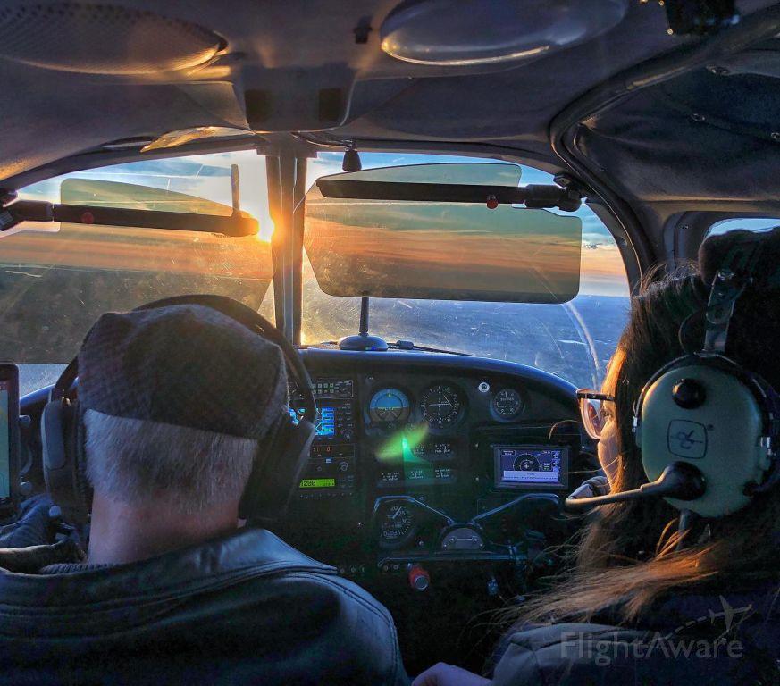 Piper Cherokee (N7742W) - Returning from winter flight to KMVY