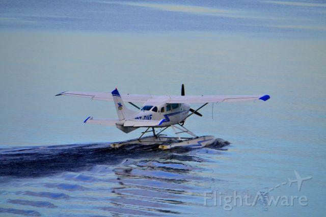 Cessna 206 Stationair (PT-DVF) - Takeoff in Negro River, Manaus, Amazonas State, Brazil