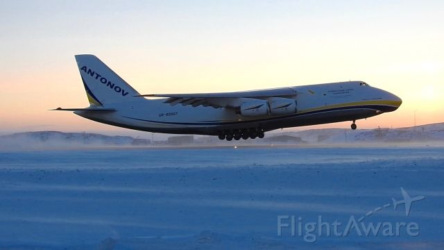 — — - Antonov AN124 to the rescue with a new GE90 engine for Swiss LX40 AOG in Iqaluit
