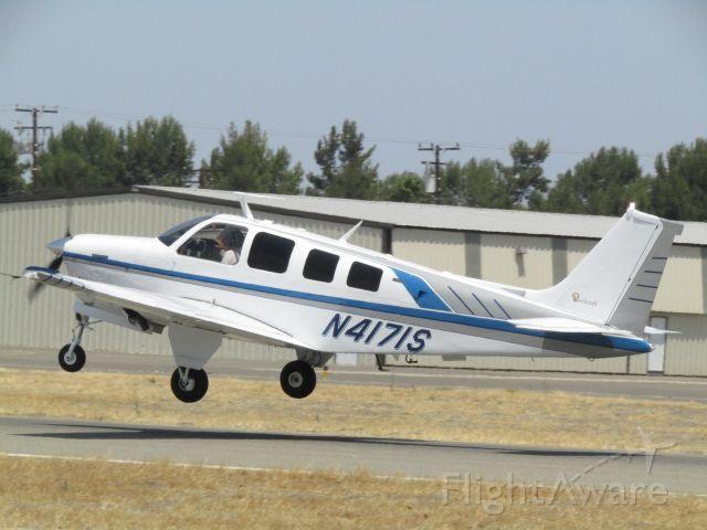 Beechcraft Bonanza (36) (N4171S) - Taking off RWY 24