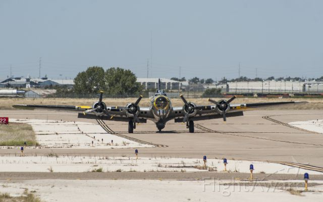 Boeing B-17 Flying Fortress (N390TH) - Boeing B-17 - Liberty Belle - on taxi in to TAC Air at Rick Husband Intl Airport on Sept. 4th, 2010.