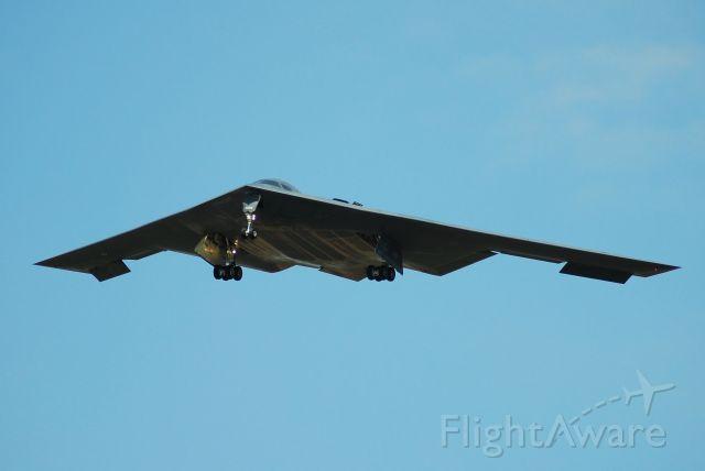 """82-1069 — - """"Spirit of Indiana"""" landing on Runway 19 at Whiteman AFB."""