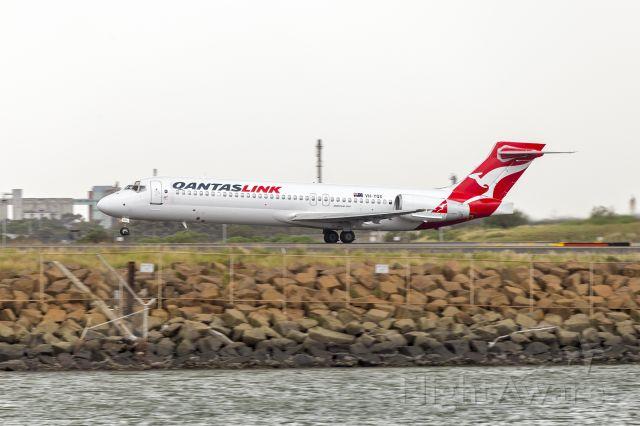 Boeing 717-200 (VH-YQX) - QantasLink (VH-YQX) Boeing 717-2K9 departing Sydney Airport
