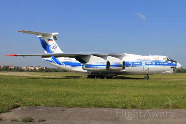 """Ilyushin Il-76 (RA-76951) - brought other Boeing parts of the old Lufthansa Boeing 737-200 D-ABCE """"Landshut"""" which was hijacked in 1977"""