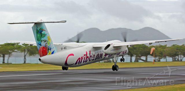 de Havilland Dash 8-300 (9Y-WIZ) - Inaugural flight departure TLPC