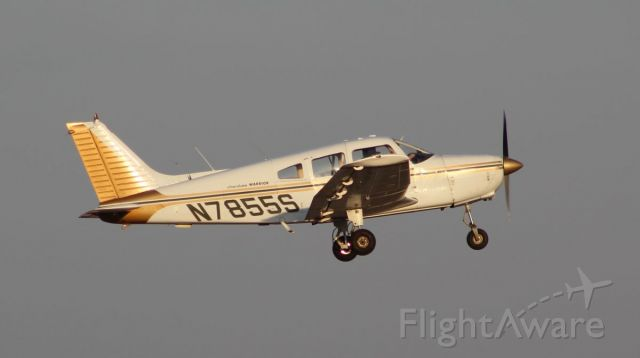Piper Cherokee (N7855S) - KSQI 9 March 2021<br />A nice evening shot of this Cherokee doing a touch and go off runway 18.<br />Gary C. Orlando Photo