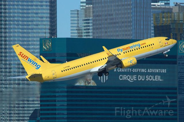 """Boeing 737-800 (C-FYUH) - A """"Gravity-Defying Adventure"""" meets a gravity defying 737-800!"""