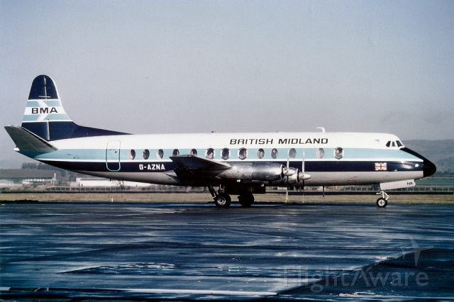 VICKERS Viscount (G-AZNA) - Low-quality scan,  taken early eighties.