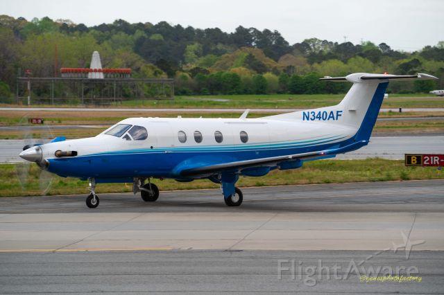 N340AF — - Beautiful Pilatus PC12.  at PDK airport.