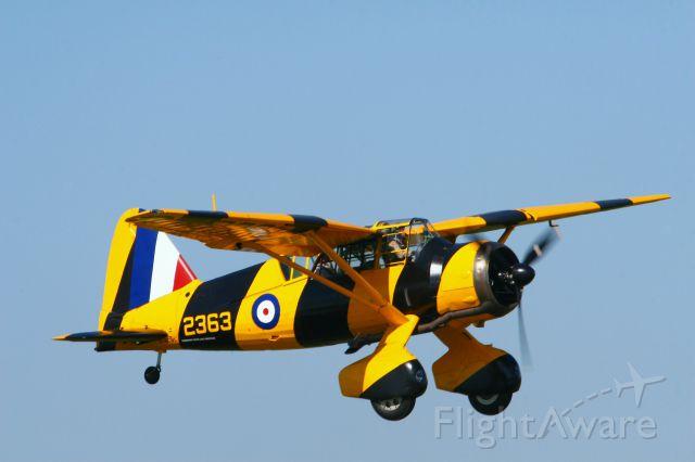 WESTLAND Lysander (C-GCWL) - Landing in Brantford Ontario.