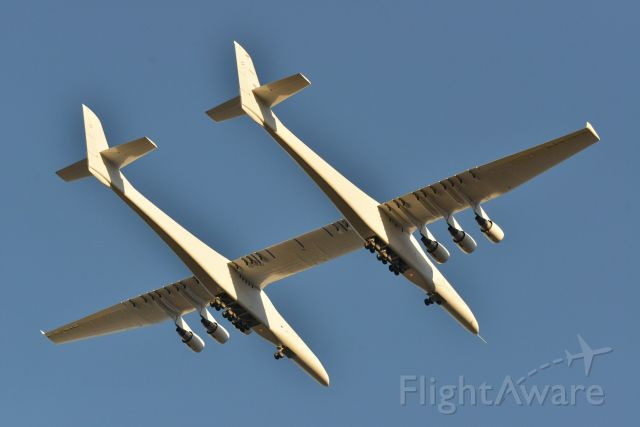 — — - Stratolaunch First Flight - Mojave 04.13.19 - N351SL - Six P&W PW4000 engines - 385' Wingspan