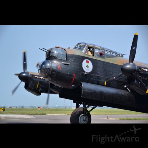 """Avro 683 Lancaster (C-GVRA) - A """"Lancaster Bomber"""" at """"Windsor International Airport"""" for a event to raise money for """"364 Lancaster Squadron Royal Canadian Air Cadets""""."""
