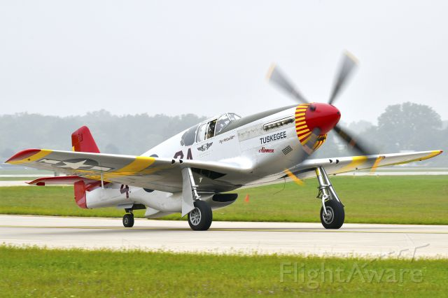 North American P-51 Mustang (N42A) - P-51C Mustang Tuskegee Airmen Red Tail at Thunder Over Michigan 2018.