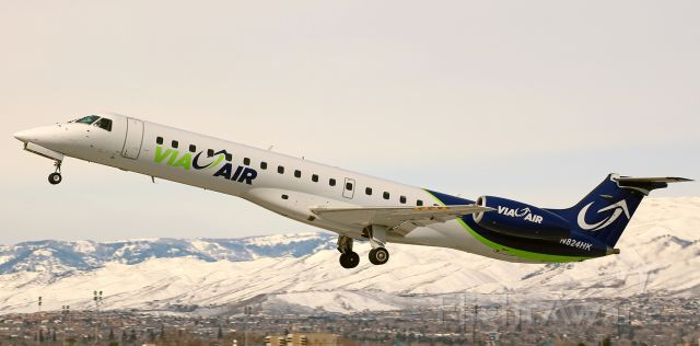 Embraer ERJ-145 (N824HK) - On the climb away from Reno Tahoe International