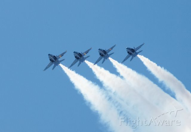 — — - Blue Angels @ KTVC performing during the Cherry Festival at Traverse City, MI