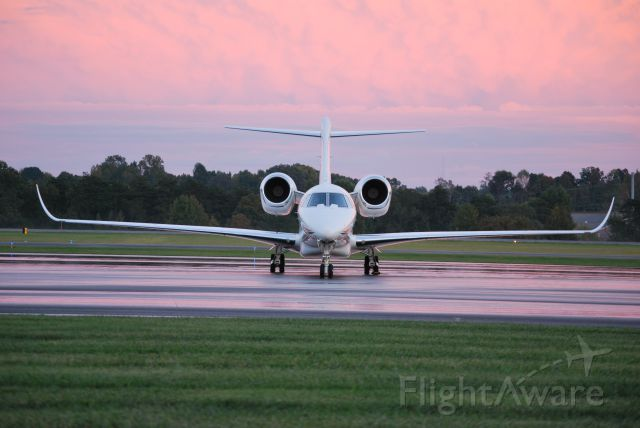 Cessna Citation X (N750XX) - AMALGAMATED CONSOLIDATED INC (NASCAR team owner Chip Ganassi) at KJQF for the Bank of America 400 race - 10/11/14