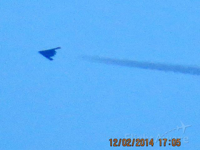 Northrop Spirit (90-0041) - B-2 over Joplin Missouri. Picture taking from Baxter Springs Kansas.