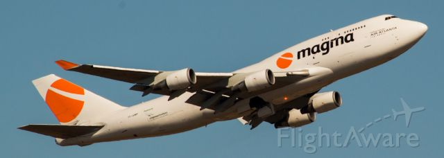 Boeing 747-400 (TF-AMP) - Vary rare visit from Magma Aviation freighter! Departing IAH for Nouakchott (NKC). Flown by Air Atlanta Icelandic.#BaconShot