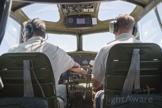 Boeing B-17 Flying Fortress (N390TH) - The pilots of the Liberty Belle B-17 Flying Fortress during a flight in Amarillo, Texas; Sept. 4, 2010.