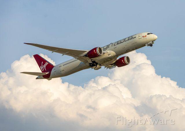 Boeing 787-9 Dreamliner (G-VZIG) - VIR 516 departs for London Heathrow.